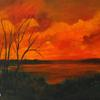 Manitoba Sunset Acrylic on Canvas - Donated to Winnipeg Symphony Charity