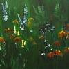 Perennial Garden 20 x 40 Acrylic on Canvas