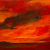Red Prairie Sky 12 x 24 Acrylic on Canvas