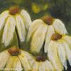 White Cone Flower 12 x 12 Acrylic on Canvas